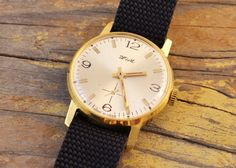Vintage Zim mens watch gold plated russian watch ussr cccp