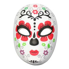 This Day of the Dead masquerade mask with a flower design is the perfect item to complete your festival outfit. It is a made from a soft rubber half mask sh. Day Of The Dead Mask, Half Mask, Masquerade, Flower Designs, Pray, Spiritual, Shell, Mexico, Journey