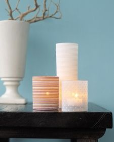 Candle Slipcovers | Step-by-Step | DIY Craft How To's and Instructions| Martha Stewart