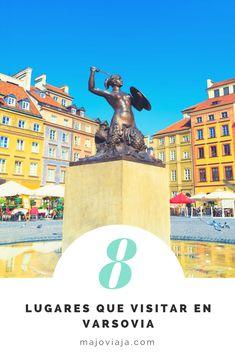 Varsovia es la vibrante capital de Polonia, estos son 8 lugares que debes visitar.  #Polonia #Eurotrip #Mochileros #Varsovia #MujeresViajeras Eurotrip, Statue Of Liberty, Travel, Backpacking, Poland, Europe, Cities, Places, Liberty Statue