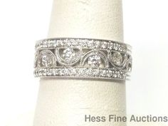 Brand New 0.70ctw Diamond Finely Crafted 14k White Gold Band Ring Size 6.75 #Unknown #Band