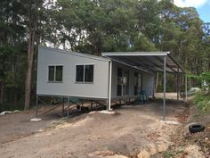 We are the leading provider of sheds, garages, carports, patios and liveable and industrial sheds on the Sunshine Coast. Tree House Designs, Small House Design, House With Land, Yurt Home, Metal Shop Building, Eco Cabin, Steel Sheds, Casas Containers, Shed Homes