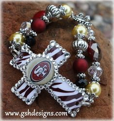 San Francisco 49ers Bracelet $30 **Necklace Available too!