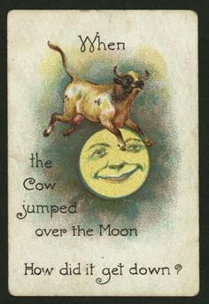 When the Cow jumped over the Moon  How did it get down?