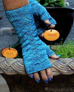 DIY Herbaceous Mitt Free Knitting Pattern