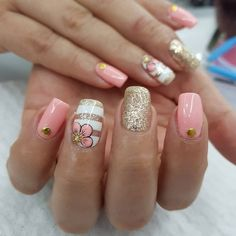 Nail Design Makes Your Nails Thin,It Turns Out That This Is Not Your Illusion - Page 21 of 21 - Dazhimen Love Nails, Pink Nails, Pretty Nails, My Nails, Nail Polish Designs, Nail Art Designs, Cruise Nails, Natural Nail Designs, Shellac Nails