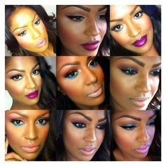 Absolute favourite Instagram beauty artist/guru MakeupShayla  her makeup is always flawless and everything she creates looks gorgeous on brown skin!!  #MakeupShayla