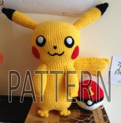 This is a crochet pattern I created for the adorable electric type Pokemon Pikachu! The pattern is written under the assumption that you have a basic