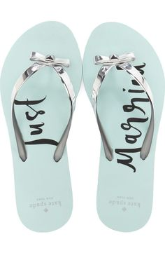 4ff1f5f14eb6 Can t get over how cute these  Just Married  flip flops are by