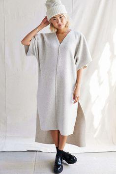 Latest womens fashion found at www.originalbloom.com Urban Renewal Remade Cozy Deep V Dress