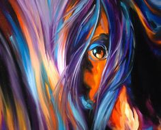 """""""EQINE EYE by M BALDWIN"""" by Marcia Baldwin, Shreveport, Louisiana // From an original oil painting by M Baldwin. Rich deep southwest colors were the focus of this painting. M Baldwin specializes in color theory and loves equine art. Collect all M Baldwin prints or originals. Visit www.marciabaldwin.artspan.com for daily available... // Imagekind.com -- Buy stunning, museum-quality fine art prints, framed prints, and canvas prints directly from independent working artists and photographers."""