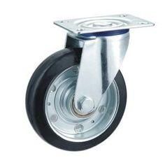Descripción:  Núcleo de acero del echador de goma elastica  Material: caucho  Tamaño: opción: 100mm x 32mm, 125mm x 38mm  Carga: 130kg ~ 160kg  Tipo: ruedas giratorias, ruedas fijas, las ruedas con doble cojinete de bolas  Propósito: Trolley ruedas, carrito de ruedas, ruedas industriales www.casterwheelsco.com ; sales@casterwheelsco.com