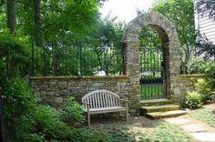 Beyond the gate would be our outdoor entertaining place with BBQ pit, Koi Pond and outdoor seating. Another arch would lead us straight to the orchard full of apples, blueberries, and what ever else we plant.