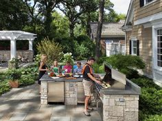 Outdoor Kitchens for Barbeque Party
