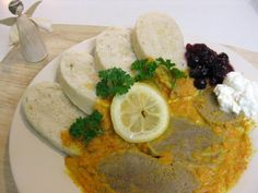 Slovakia Food   Svieckova na smotane, beef on cream, traditional Slovak food
