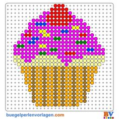 Perler Bead Patterns and Ideas - Free printable patterns to donwnload as PDF. Melty Bead Patterns, Pearler Bead Patterns, Beading Patterns Free, Perler Patterns, Pearler Beads, Fuse Beads, Hama Disney, Pixel Beads, Perler Bead Templates