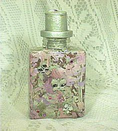 "Handpainted Square ""Magic""  Bottle with Butterflys & Swarovsky crystals....to hold all your deepest secrets and more by AUniqueRemembrance, $14.95"