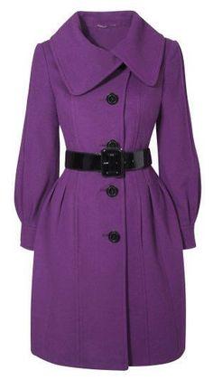 .beauty.. Purple coat