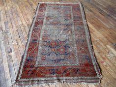 "Huntt Rugs  http://www.hunttrugs.com/vintage-distressed-worn-rug/copy-of-antique-persian-baluchi-rug-32x410-2?rq=6ban  Antique Persian Baluchi Rug 3'1""x5'4"" #vintagerug #persianrug #antiquerug #distressedrug #homedecor #interiordesign #decor #hunttrugs"