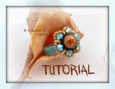 "Tutorial Anello ""Spring"" con Superduo, Perla 8 mm e Bicono Swarovski, Tila Beads - DIY Ring Tutorial"