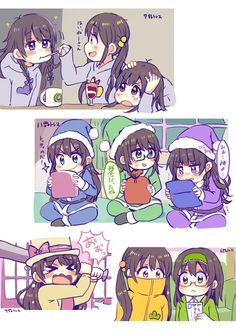 Girl version of them is still cute >_< Japanese Show, Osomatsu San Doujinshi, Sans Cute, Signo Libra, Sailor Moon Wallpaper, Otaku, Anime Version, Best Smartphone, Ichimatsu