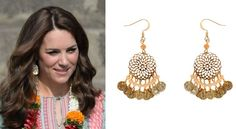 hrhduchesskate: Royal Tour 2016-Mumbai, India, April 10, 2016-The Duchess of Cambridge wore £8 earrings by Accessorize brand, the 'Filigree Bead Short Drop Earrings'