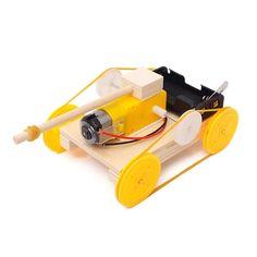 DIY Electric Tank Model – STEM Toys Best Engineering Kits, Natural Curiosities, 3d Puzzles, Kids Hands, Diy Videos, Diy Kits, Three Dimensional, Toys, Model