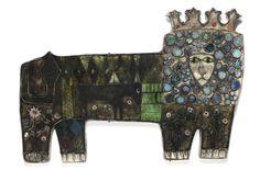 The Lion by Rut Bryk Clay Tiles, Ceramic Animals, Antique Decor, Modern Ceramics, Source Of Inspiration, Ceramic Artists, Scandinavian Interior, Pet Portraits, Boho Decor