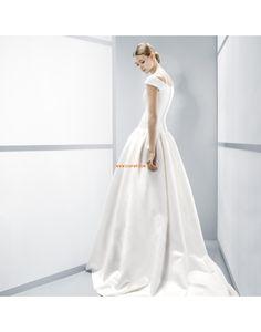 Princesové Délka kostel Satén Levné svatební šaty