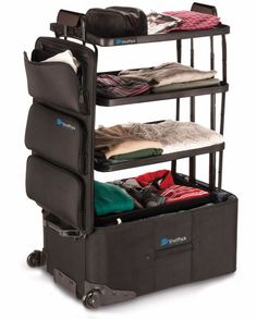 Game-Changing Suitcase Is Made for Overpackers A suitcase with built-in shelves! It will be so helpful when packing our clothes:)A suitcase with built-in shelves! It will be so helpful when packing our clothes:) Packing Tips, Travel Packing, Travel Bags, Travel Luggage, Suitcase Packing, Pack Suitcase, Travel Stuff, Travel Usa, Camping Accesorios