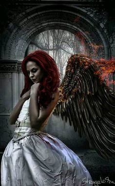 St Elizabeta Batory: Legendary Mother of Killers. Lover to a Fallen Angel of… Dark Angels, Angels And Demons, Fallen Angels, Dark Fantasy Art, Dark Art, Fantasy Girl, Art Zombie, Gothic Angel, Dark Wings