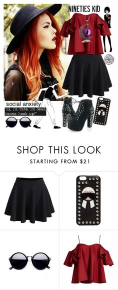 """""""social anxiety."""" by unicornpotter ❤ liked on Polyvore featuring Fendi and Anna October"""