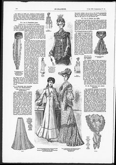 Reformdresses, the one for the adult woman seems to be made of Art Nouveau influenced fabric. (visit site for bigger picture)  Gracieuse. Geïllustreerde Aglaja, 1903, aflevering 19, pagina 146