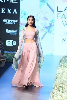 Anushree Reddy at Lakmé Fashion Week Summer/Resort 2018 l Vogue India Western Lehenga, Indian Lehenga, Lehenga Choli, Bridal Lehenga, Pakistani, Dress Indian Style, Indian Dresses, Indian Attire, Indian Ethnic Wear