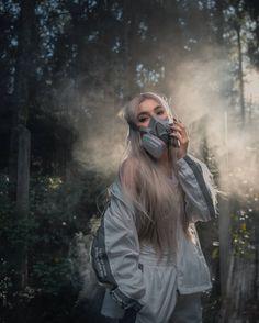 Aesthetic Grunge Outfit, Mask Girl, Grunge Outfits, Safety, Raincoat, Spirit, Girls, Women, Fashion