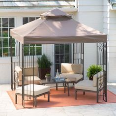 Coral Coast Prairie Grass 8 x 8 ft. Gazebo Canopy and Insect Netting - NEW