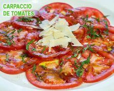 carpaccio de tomates, parmesano y albahaca