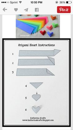 coração - 50 Origami to Pass the Time or Start a New . - 50 Origami to Pass the Time or Start a New . Origami Simple, Origami And Kirigami, Paper Crafts Origami, Origami Stars, Diy Paper, Paper Crafting, Oragami, 3d Origami Heart, Origami Boxes