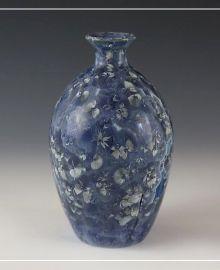 Butelka/wazon lodowe kryształy. Sztuk Kilka Ceramics.