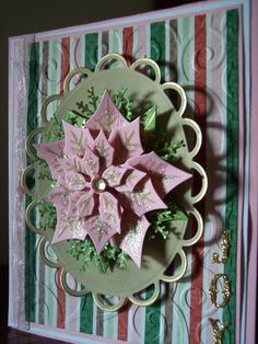 Playing with my new Poinsettia die from Spellbinders.