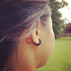 Love the idea of a moon somewhere on my body! Small tattoos behind the ear