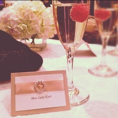 bejeweled place cards