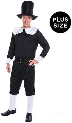 PartyBell.com - Pilgrim Man Adult Costume #thanksgiving
