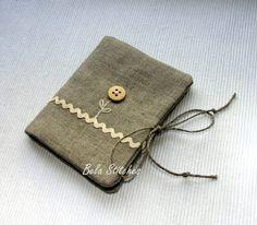 Bela Stitches: flax / linen- Needle Case