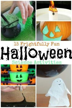 Inside you'll find: The scariest, squishiest, spookiest, slimiest science experiments for Halloween fun! Halloween Theme Preschool, Halloween Class Party, Halloween Science, Halloween School Treats, Halloween Activities, Easy Halloween, Halloween Themes, Halloween Crafts, Halloween Week
