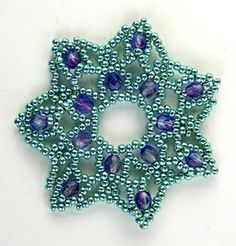 Turquoise Lace Ornament, Sova Enterprises