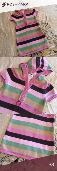 Girls striped sweater dress with ribbon detail, 2T Girls striped sweater dress with ribbon detail, 2T Dresses