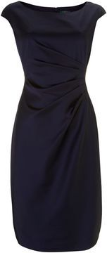 Lauren by Ralph Lauren Cap sleeve dress with ruching on shopstyle.co.uk