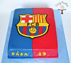 FC Barcelona Cake - cake by Martina Barcelona Cake, Barcelona Party, Barcelona Tattoo, Barcelona Team, 9th Birthday Cake, 9th Birthday Parties, Sport Cakes, Soccer Cakes, Fc Barcelona Wallpapers