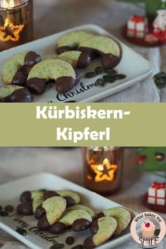 Kürbiskernkipferl – * what bakes me smile * – Kekse Chocolate Chip Muffins, Chocolate Chip Oatmeal, Baking Blend Recipe, Skinny Cookies, Starbucks Pumpkin Bread, Gluten Free Peach, Peanut Butter Oatmeal, Christmas Baking, Christmas Cookies